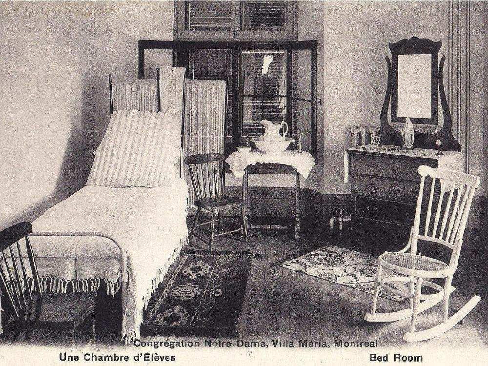 A boarding room at Villa Maria school in Montreal, around 1901. The girls' school closed its boarding facilities in 1966. Credit: Archives Congrégation de Notre-Dame – Montréal.